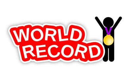 Weltrekord, Jubel mit Goldmedaille